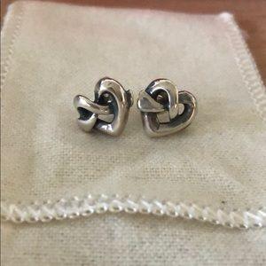 James Avery Heart Knot ear post